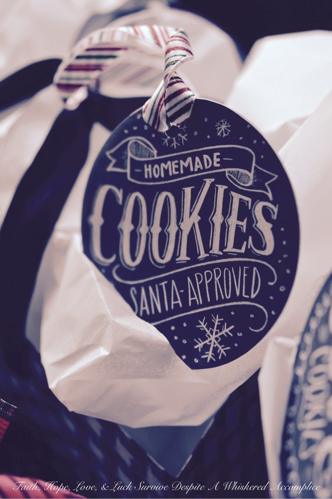 Christmas Cookie Packaging | Faith, Hope, Love, and Luck Survive Despite a Whiskered Accomplice