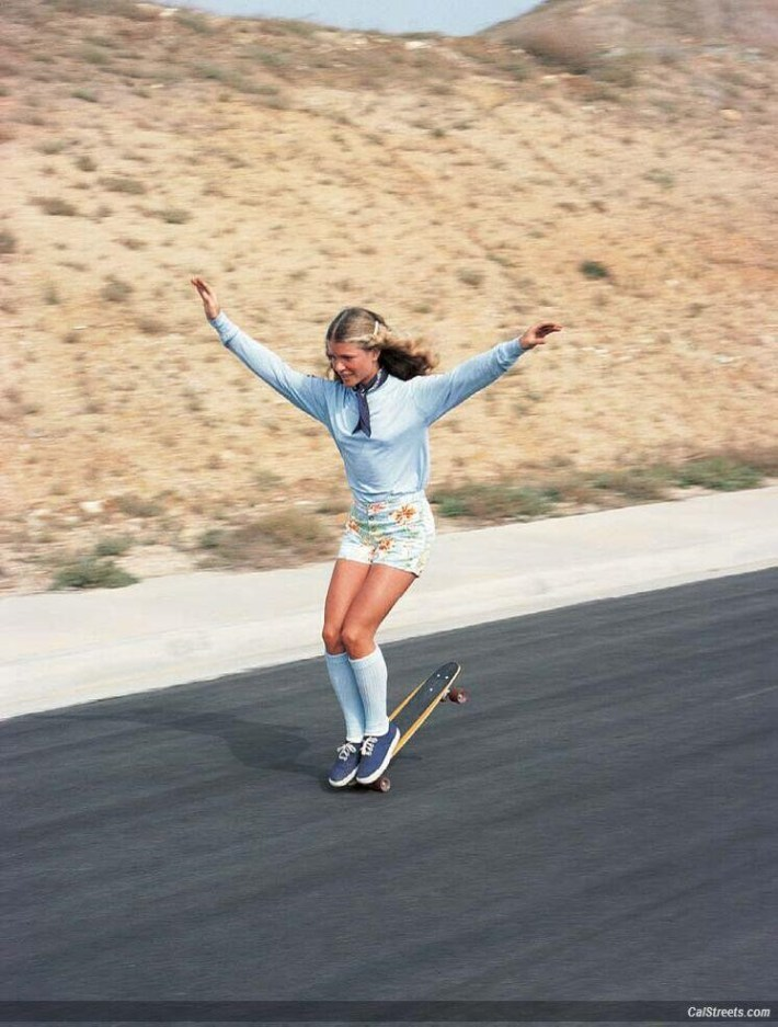 Ellen O'Neal, the greatest woman freestyle skateboarder in the 1970s.