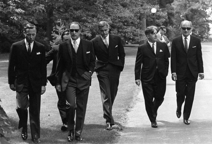 Canadian Prime Minister Pierre Trudeau and his cabinet - 1968. These men knew how to wear a suit.