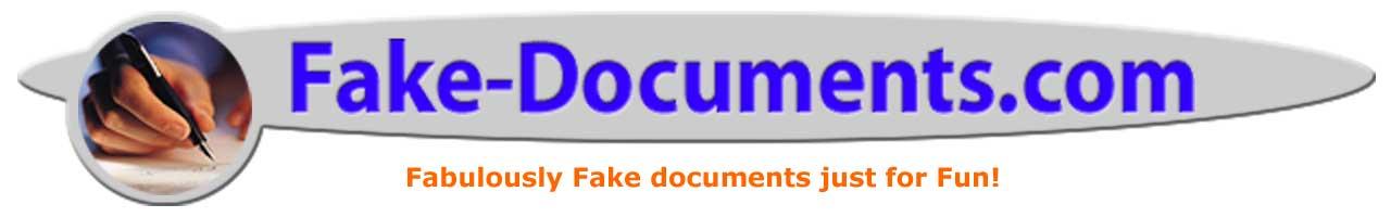 Fake Divorce Papers - Fake Divorce Decree