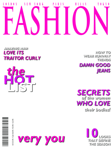 Download Back > Gallery For > Blank Fashion Magazine Cover Templates