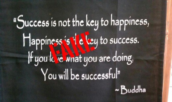 Success is not the key to happiness; happiness is the key to success
