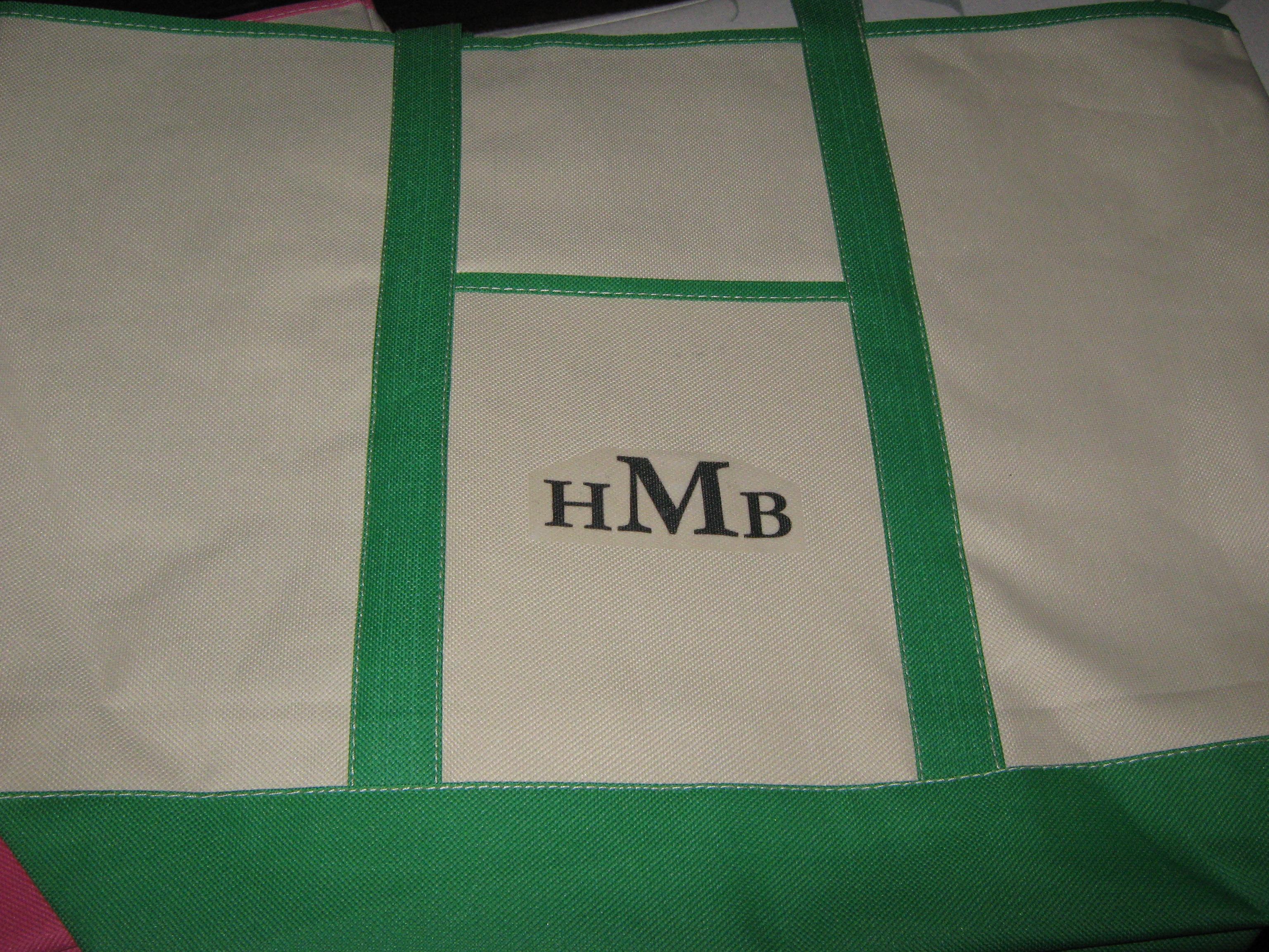 monogrammed computer bags