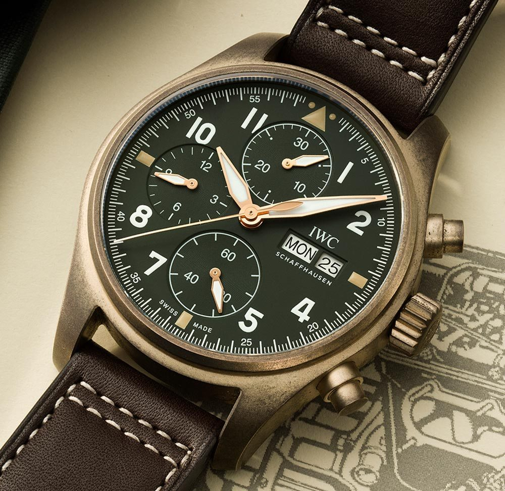 Iwc Replica Iwc Pilot S Chronograph Spitfire Bronze Luxury Replica Watches