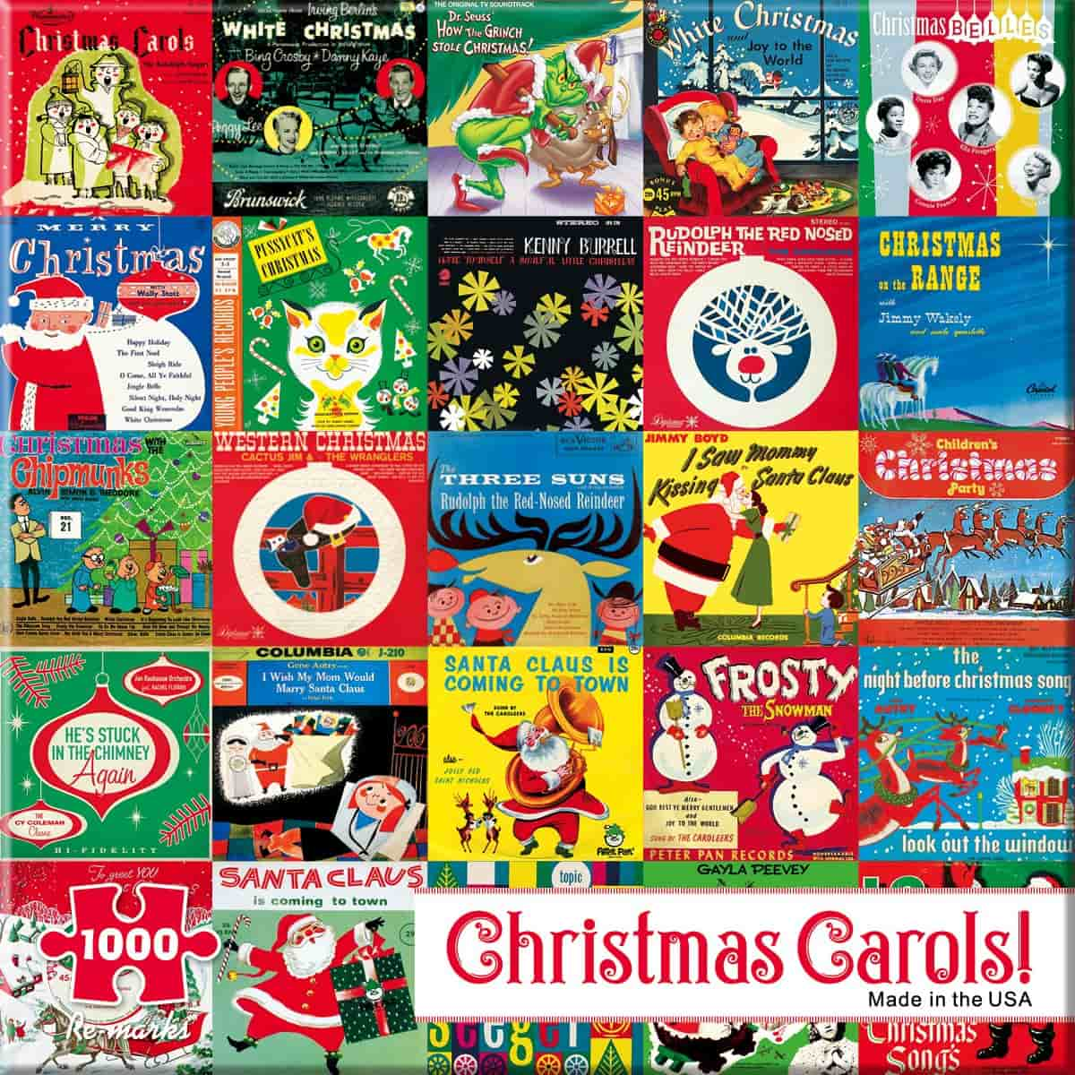 Berlin Puzzle Christmas Record Covers Jigsaw Puzzle Falalalala