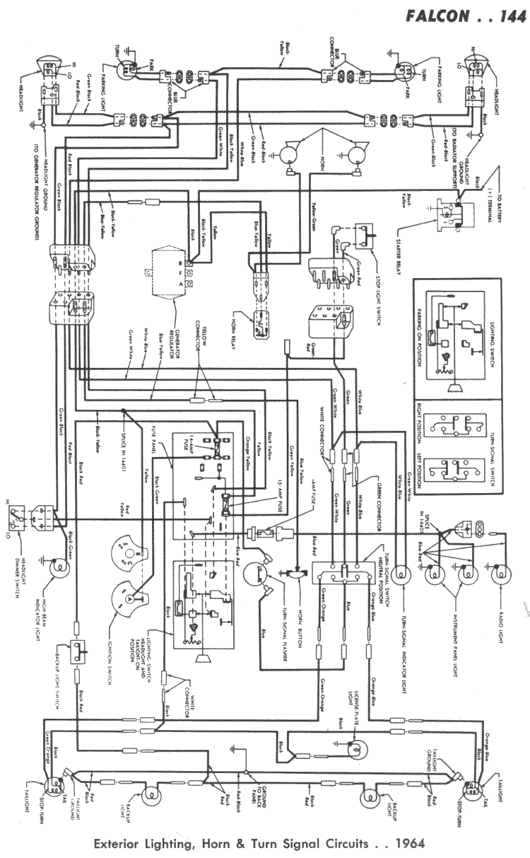 wiring diagram for 64 falcon
