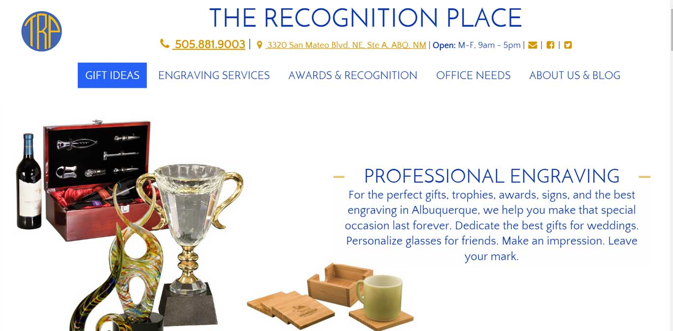 The-Recognition-Place---Engraving-for-gifts-trophies-awards-in-Albuquerque