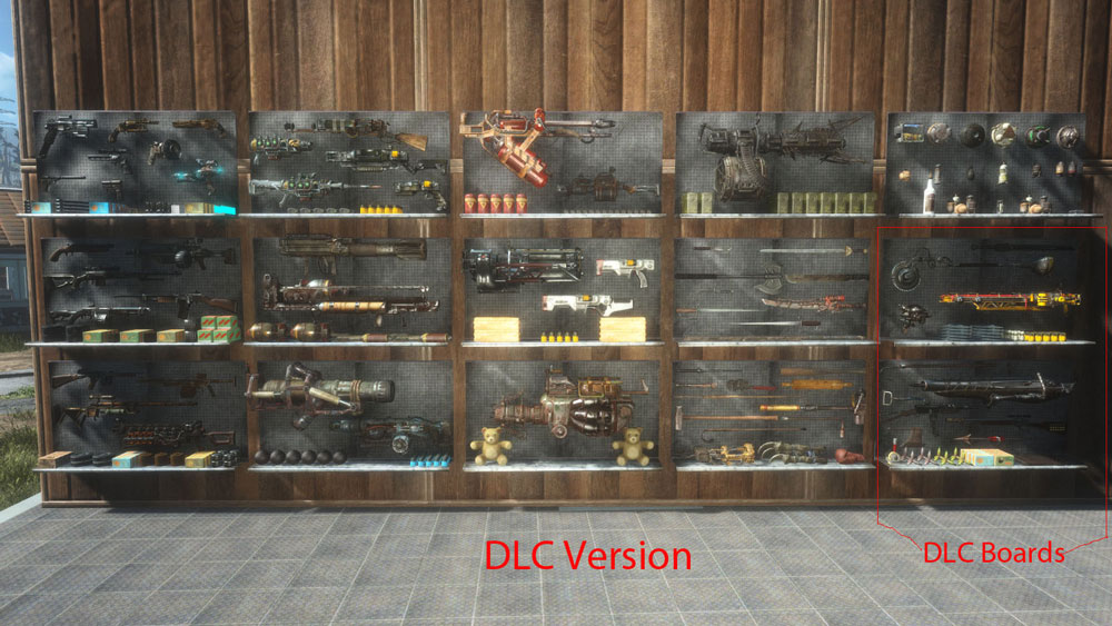 Filled Weapon Displays Mod For Fallout 4 Fallout 4 Mods