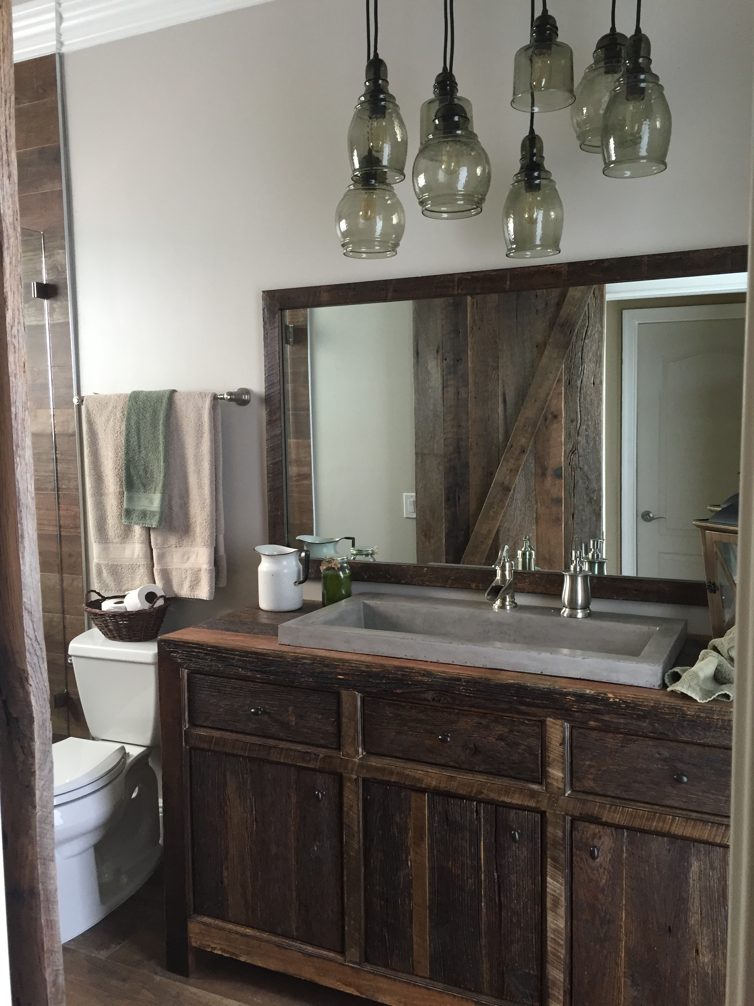 Rustic Bathroom Vanity Robbie's Rustic Reclaimed Wood Bathroom Vanity | Fama