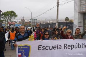 Demo für ein bessere Schulsystem in Coquimbo