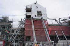 Restaurierungsarbeiten nach dem Erdbeben in Christchurch