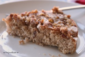 Whole Wheat Pecan Crumb Cake   #SundaySupper