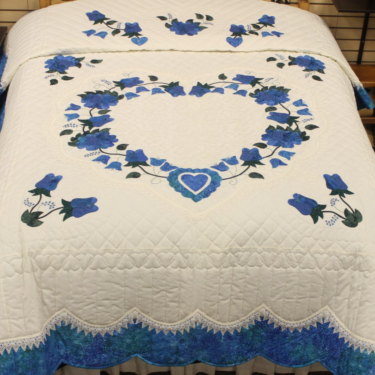 Coverlets For Sale Lacy Heart Of Roses Queen