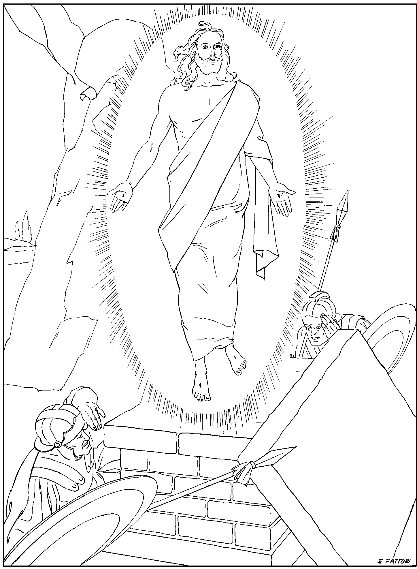 coloring pages on the rosary - photo#24