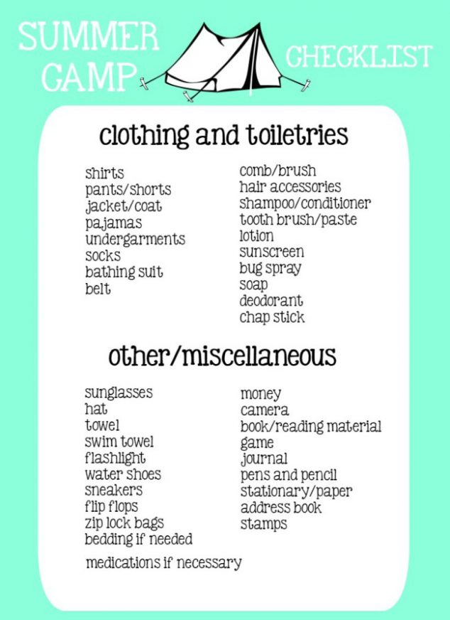 91+ Summer Camping Checklist - Boy Scout Camping Checklist, Summer - sample camping checklist