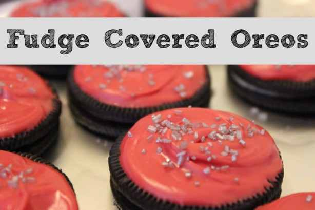 Fudge Covered Oreos