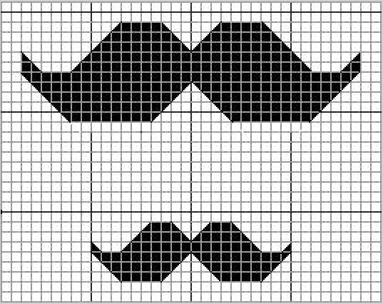 moustache cross stitch pattern Cross stitch charts, Cross stitch - baby size chart template