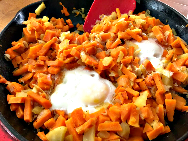 Sweet Potato Hash and Eggs – 1 Pot Meal