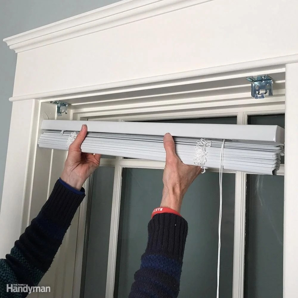 Plastic Door Curtains For Air Conditioner How To Install Window Blinds The Family Handyman
