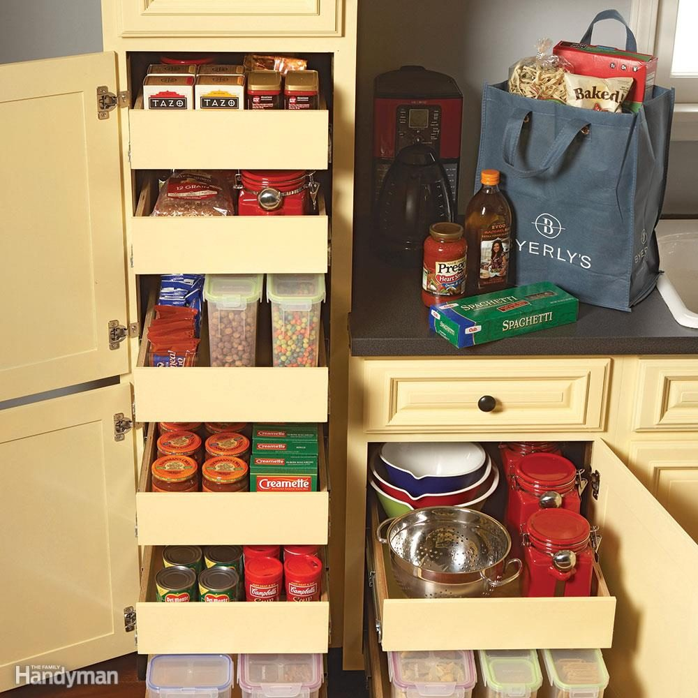 Cabinet Drawers 7 Roll Out Cabinet Drawers You Can Build Yourself Family Handyman