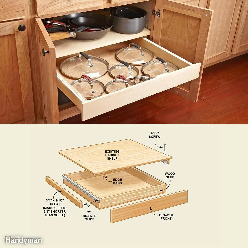 Kitchen Cabinet Drawers 10 Kitchen Cabinet Drawer Organizers You Can Build Family Handyman