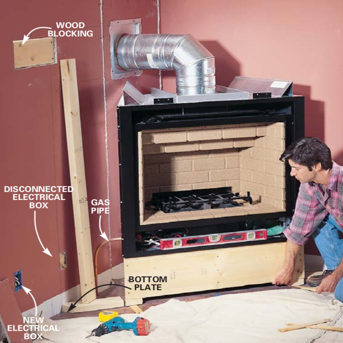 Fireplace Blower Kits How To Install A Gas Fireplace Diy Built In Gas Fireplace The