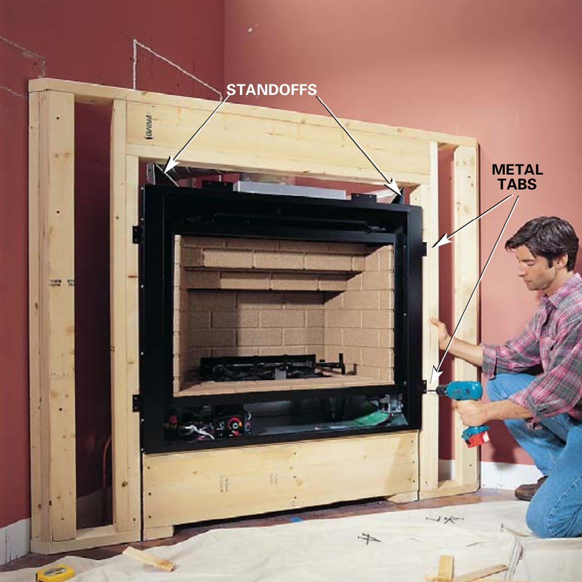 Build Your Own Fireplace Insert How To Install A Gas Fireplace Diy Built In Gas Fireplace The