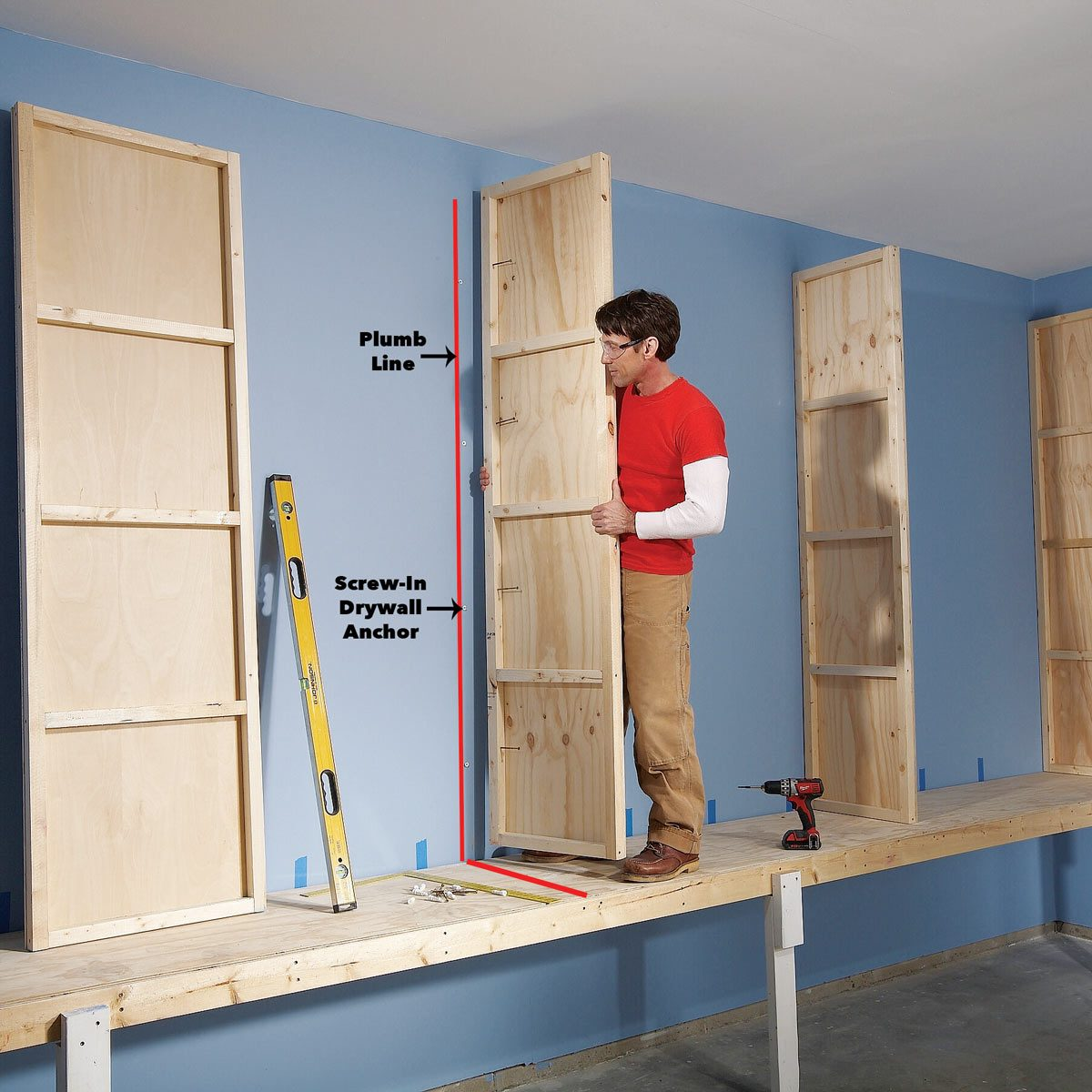 Garage Cabinet Plans Giant Diy Garage Cabinet
