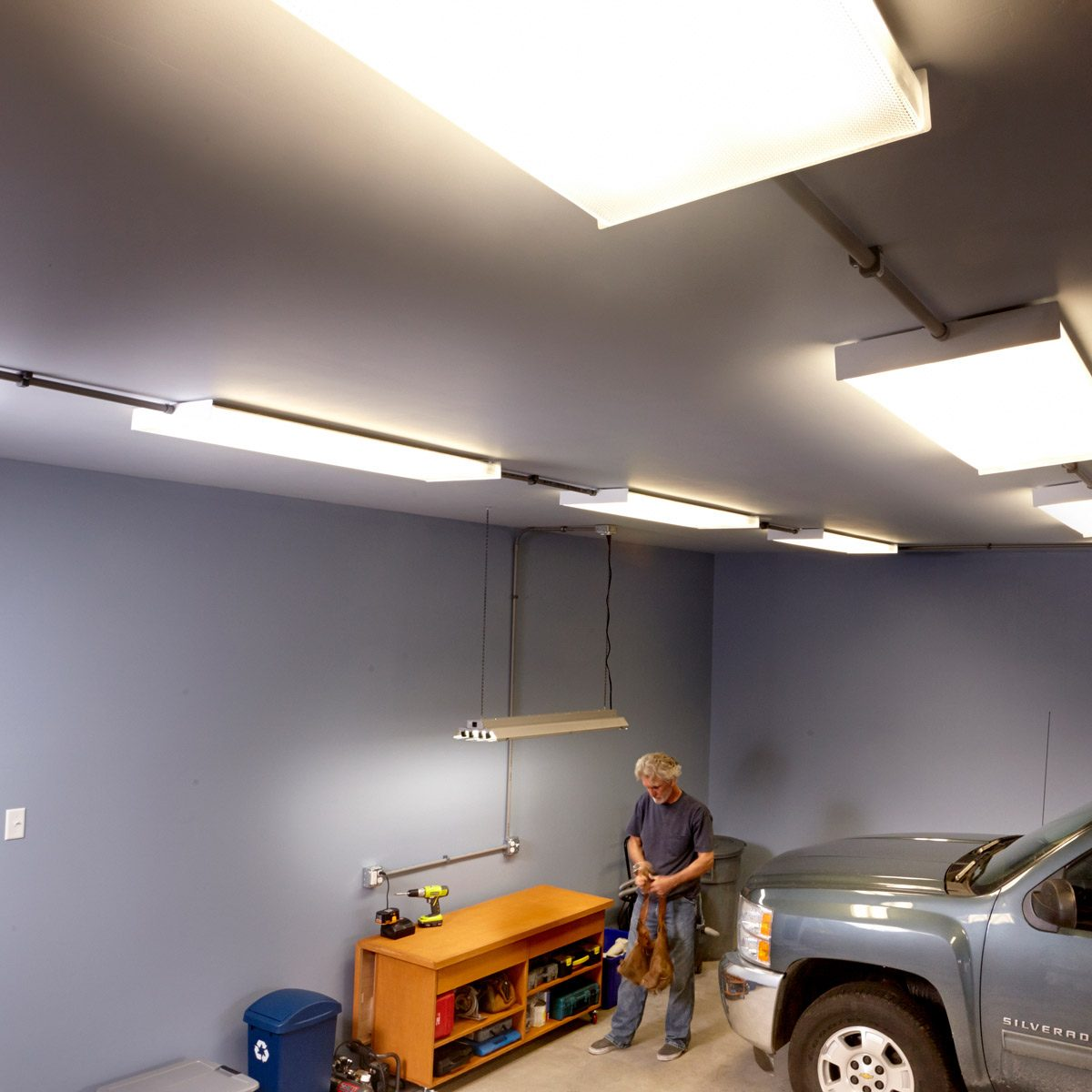 Ceiling Fan Size For Garage How To Wire A Finished Garage Family Handyman The Family Handyman