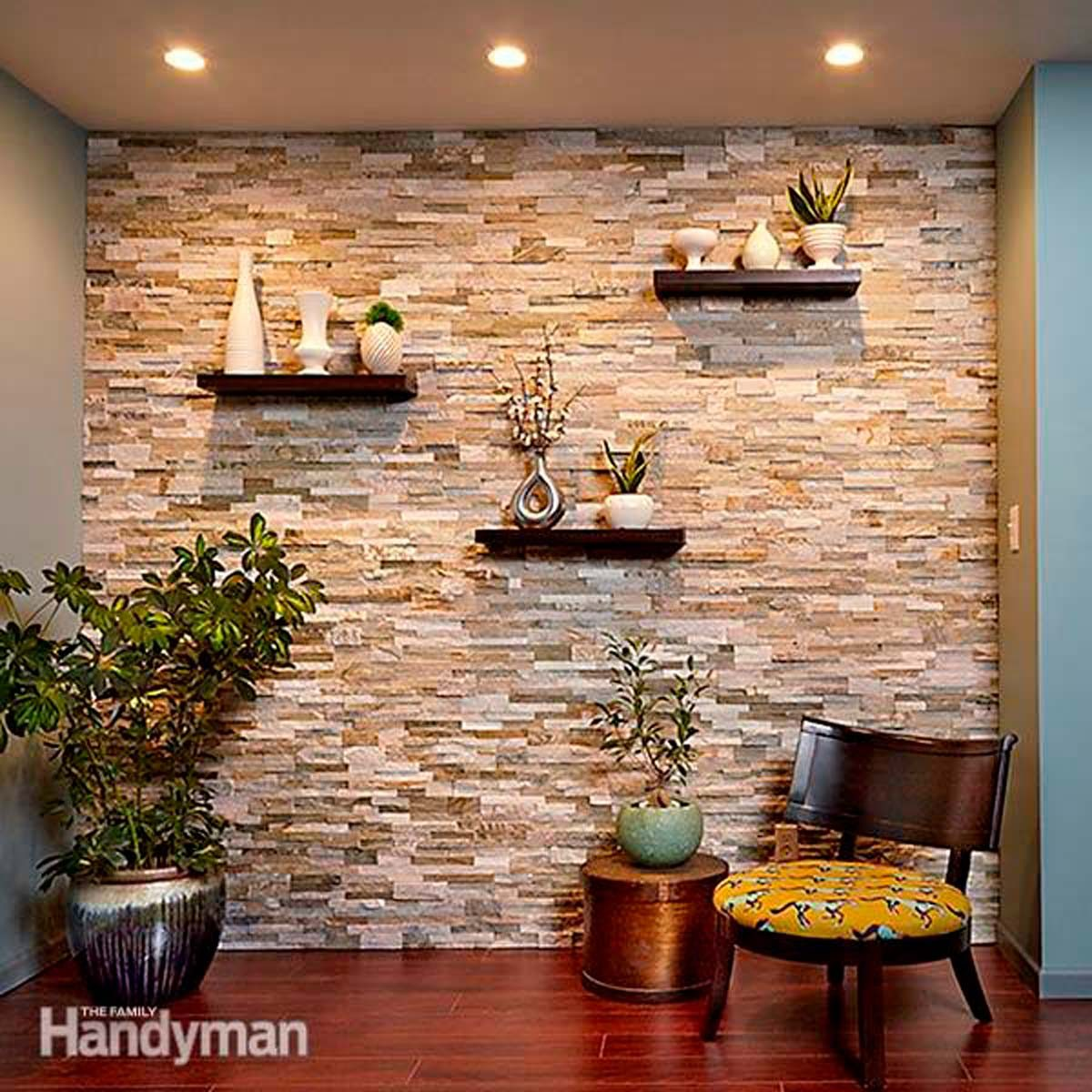Adding Brick Wall Interior Create A Faux Stone Accent Wall Using Faux Stacked Stone The