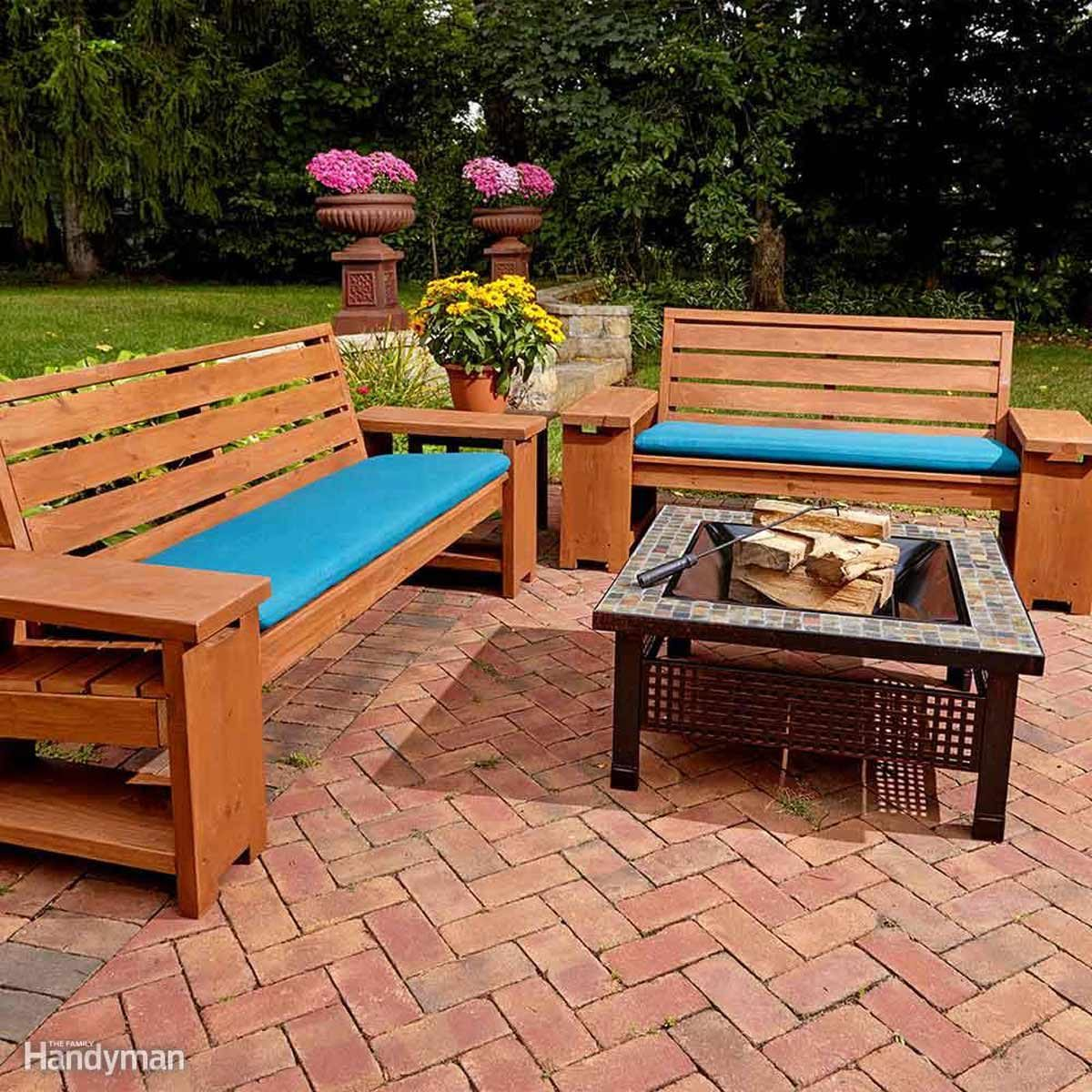 Diy Indoor Bench Seat 15 Awesome Plans For Diy Patio Furniture The Family Handyman