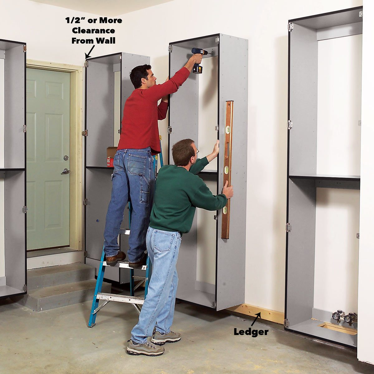 Garage Utility Cabinets Build The Ultimate Garage Cabinets Yourself