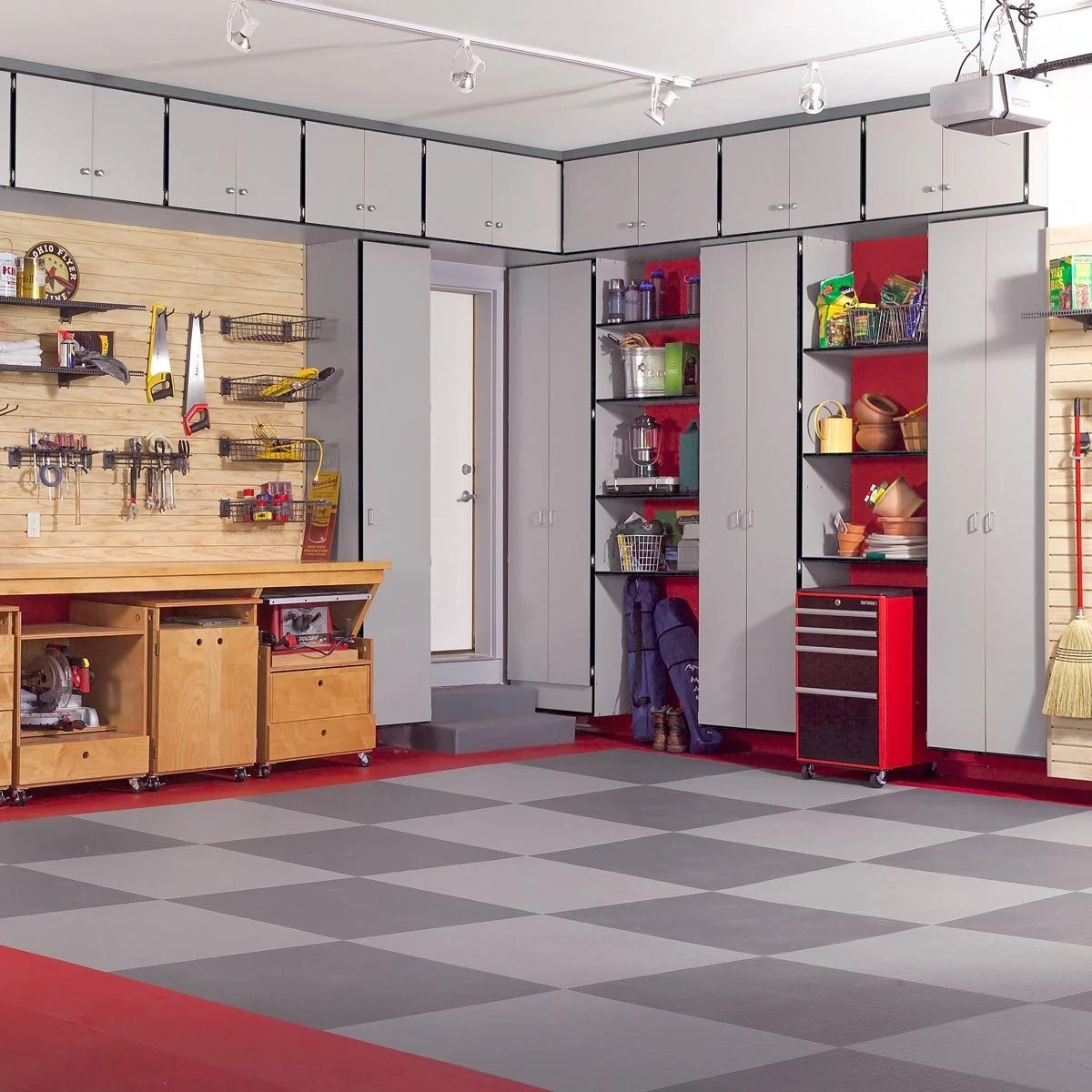 Garage Storage Cupboards Build The Ultimate Garage Cabinets Yourself