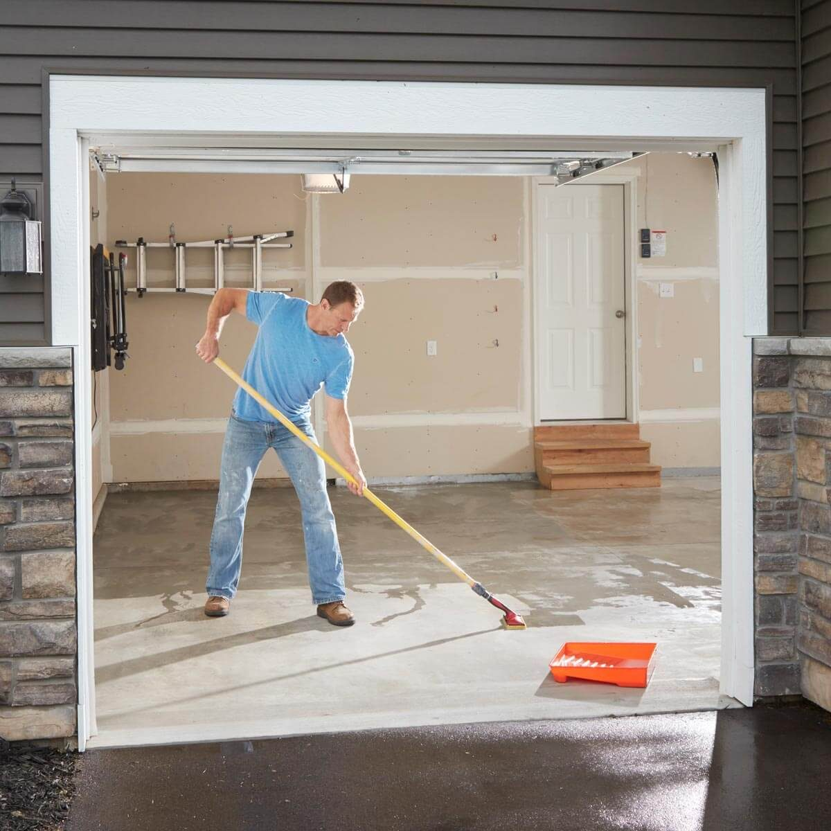 Garage Floor Epoxy Steps Make Your Garage Floor Last The Family Handyman