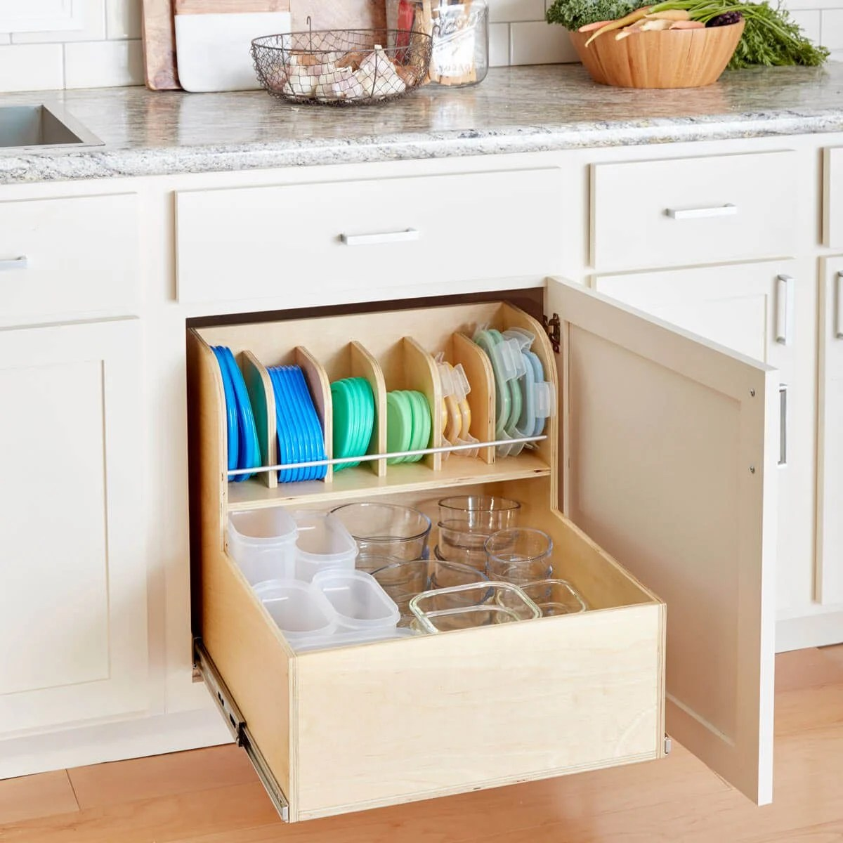 Kitchen Organizer Storage Build An Ultimate Container Storage Cabinet The Family Handyman