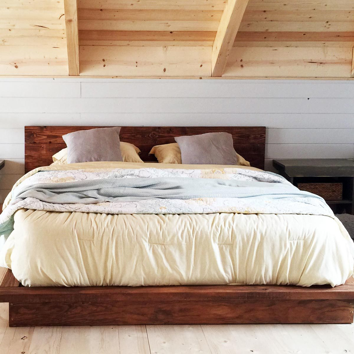 White Platform Bed Without Headboard 10 Awesome Diy Platform Bed Designs The Family Handyman