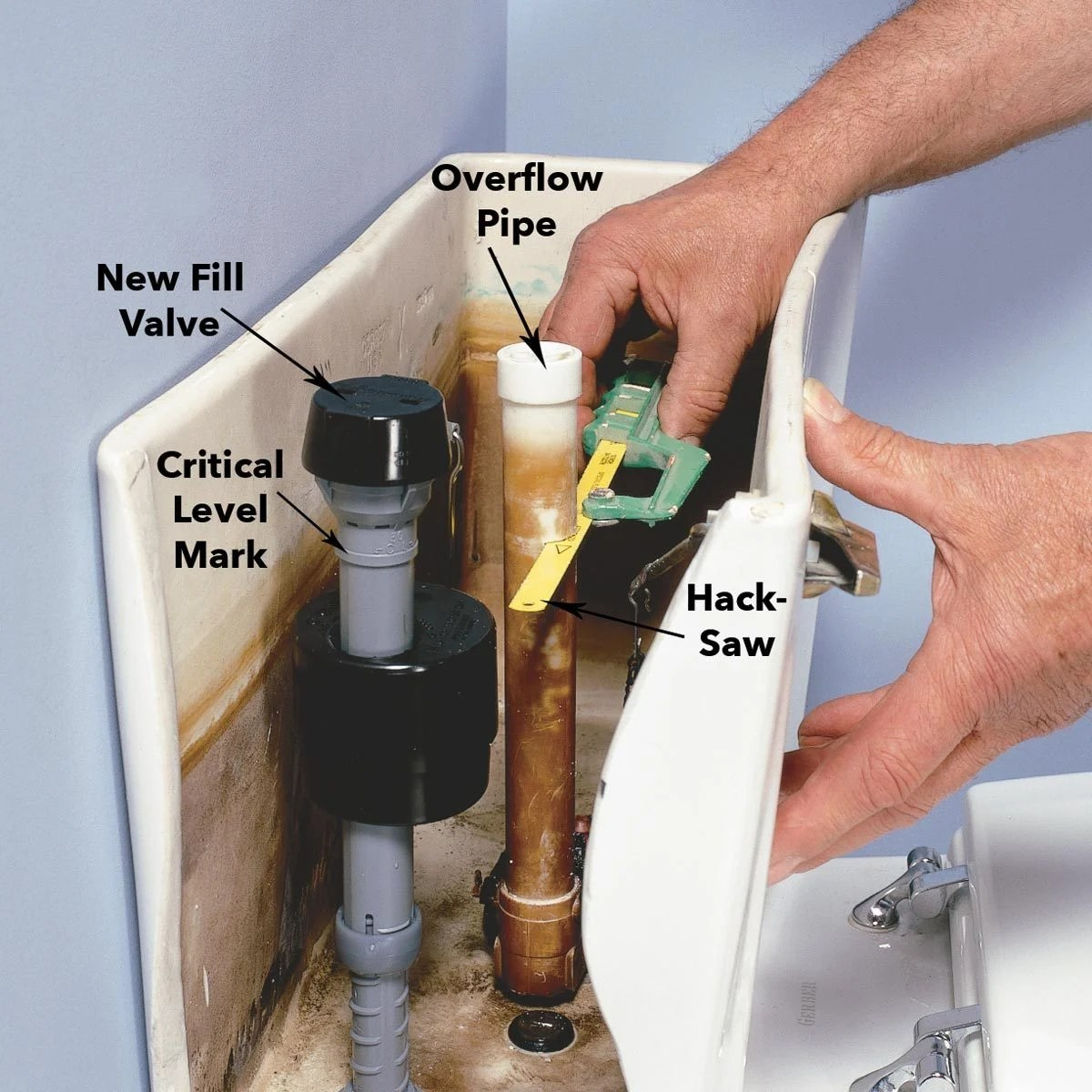 Install A Toilet How To Fix A Running Toilet The Family Handyman