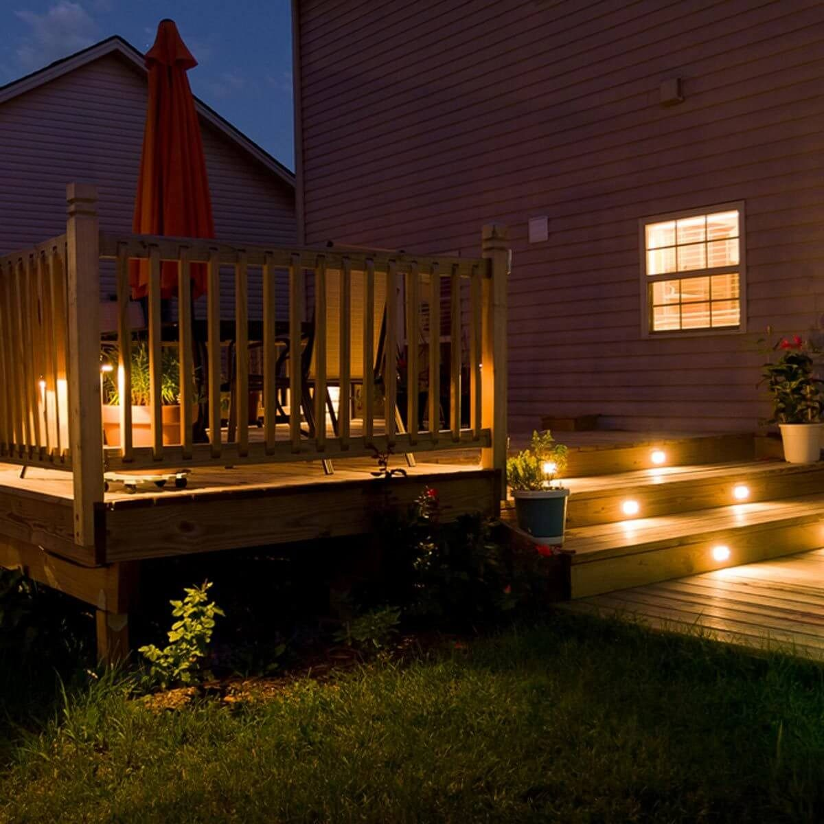 Small Floor Spotlights 12 Ideas For Lighting Up Your Deck Family Handyman