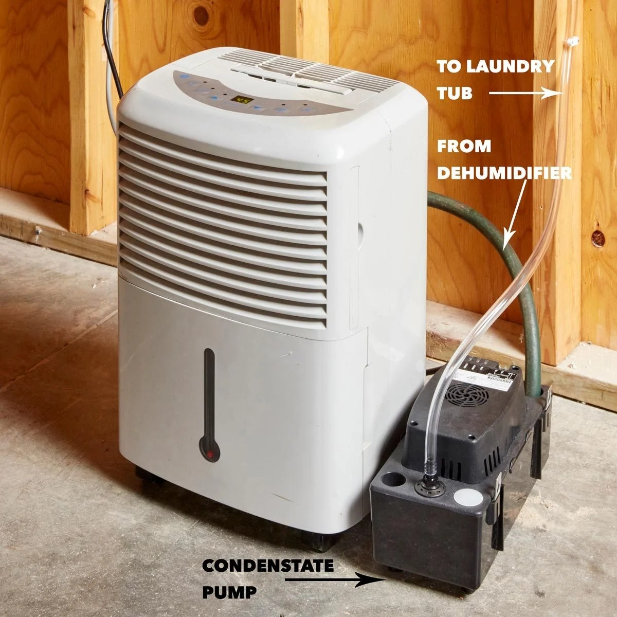 Diy Dehumidifier Save Time With A Diy Self Draining Dehumidifier The Family Handyman