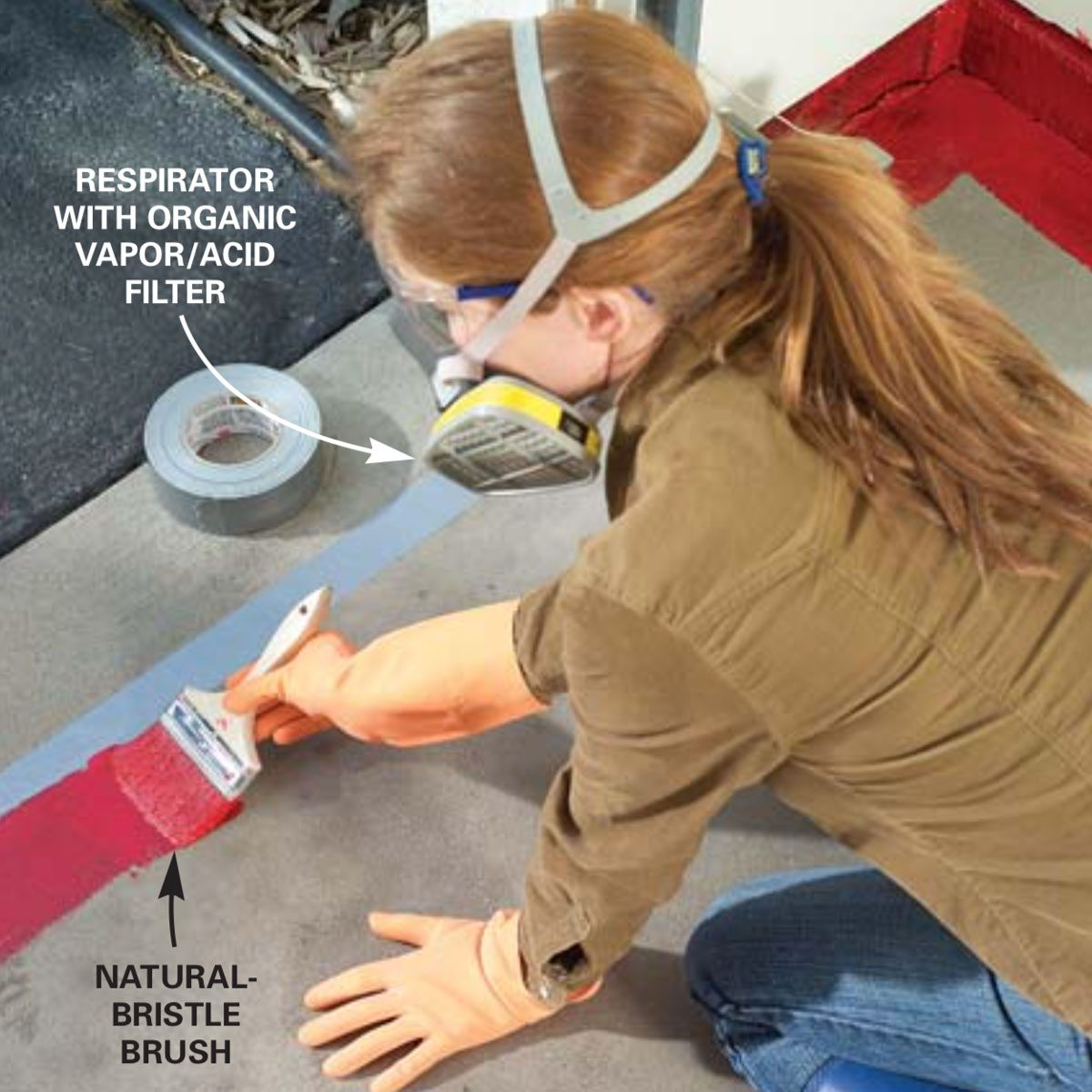 Garage Epoxy Cure Time How To Apply Epoxy Flooring To Your Garage Family Handyman