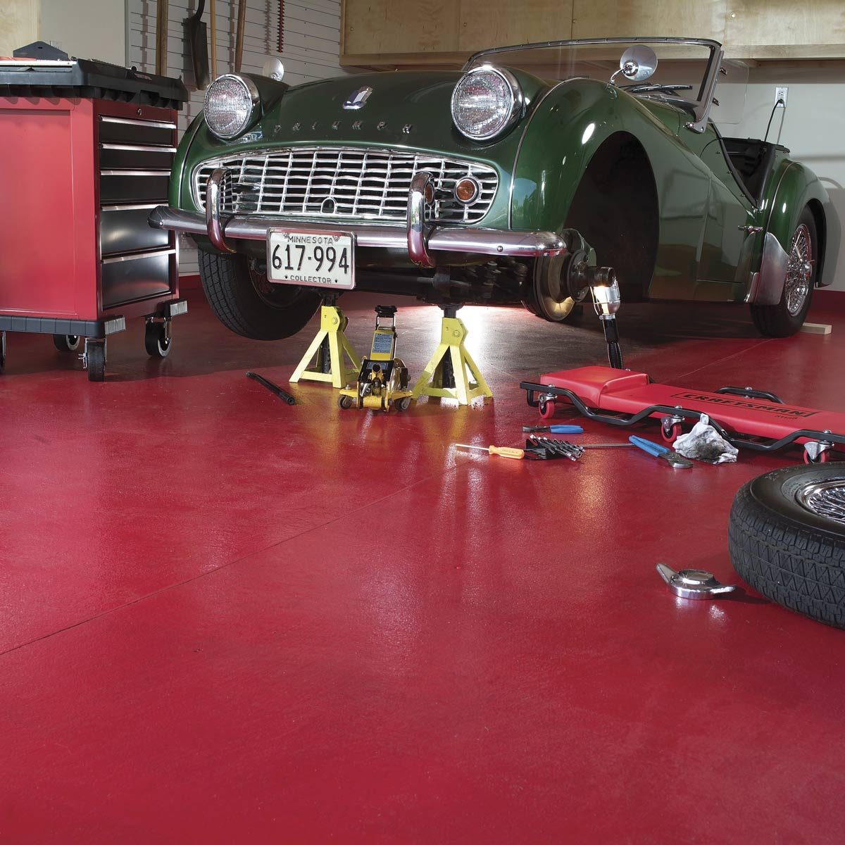 How To Apply Epoxy Flooring To Your Garage Diy Family Handyman