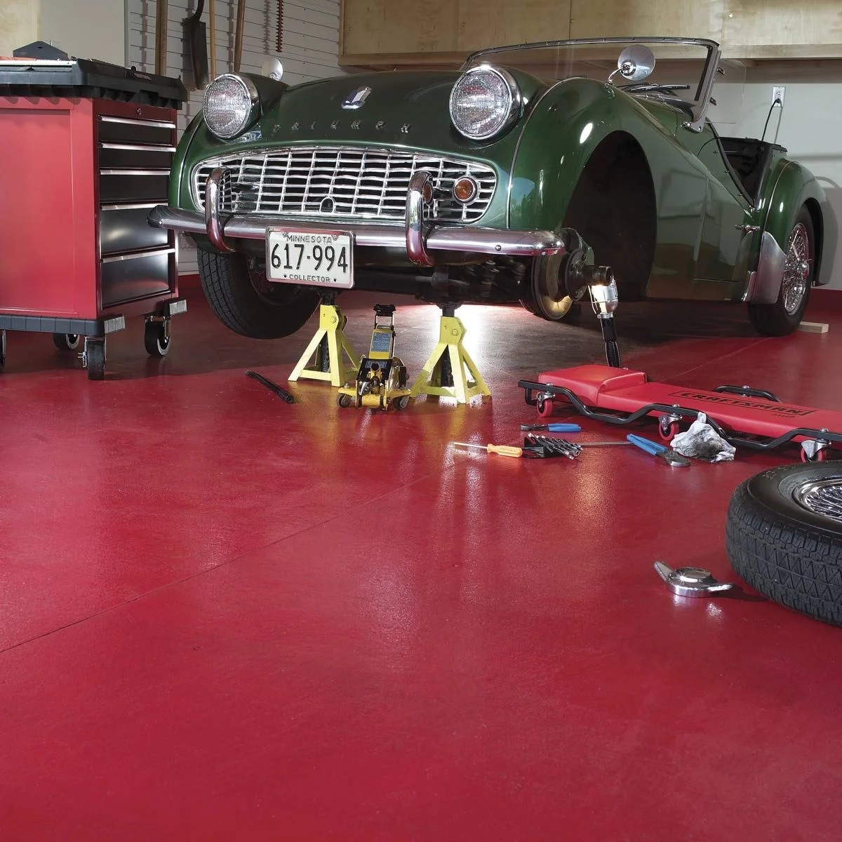 Garage Floor Epoxy Steps How To Apply Epoxy Flooring To Your Garage Family Handyman The