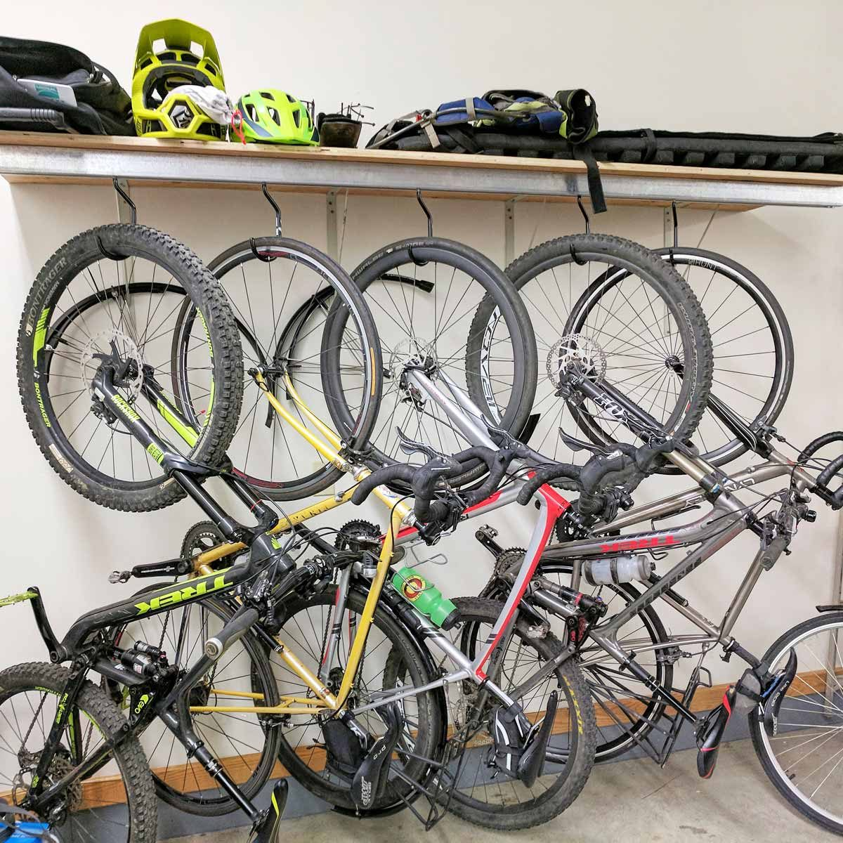Tidy Garage Bike Rack Installation 8 Best Reader Garage Projects And Storage Tips The Family Handyman