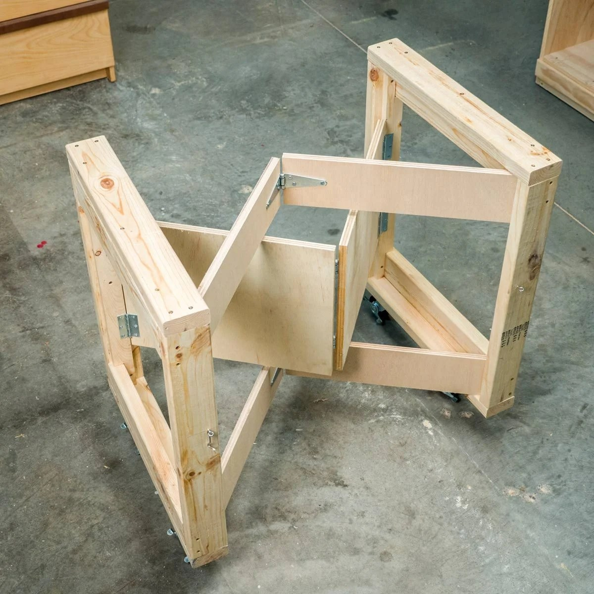 Möbel 4 You Saturday Morning Workshop Folding Mobile Workbench The Family