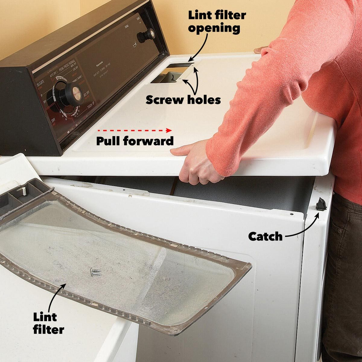 Dryer Lint Cleaning Tips The Family Handyman - Dryer Lint Cleaner