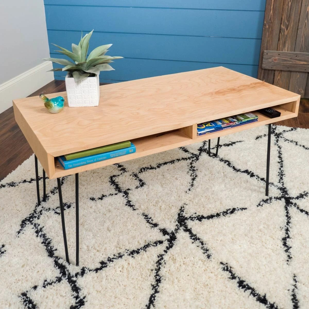 Diy Desk With Hairpin Legs How To Build A Hairpin Leg Coffee Table The Family Handyman