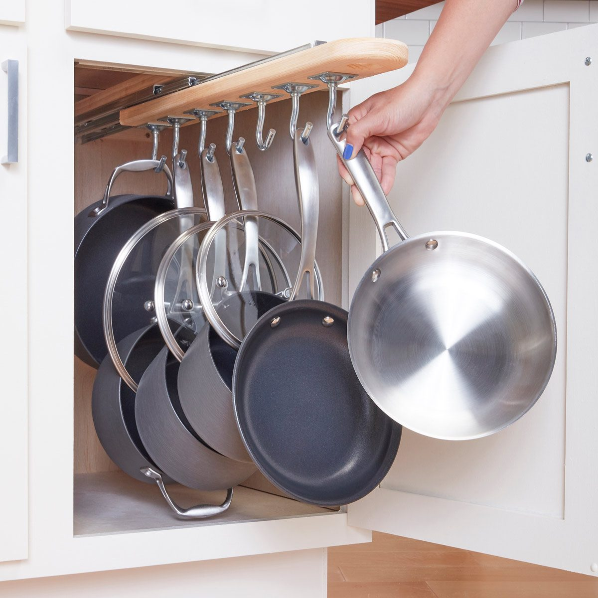 Solutions Storage Kitchen Cabinet Storage Solutions Diy Pot And Pan Pullout The