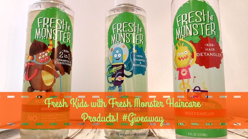 Fresh Kids with Fresh Monster Haircare Products! #Giveaway