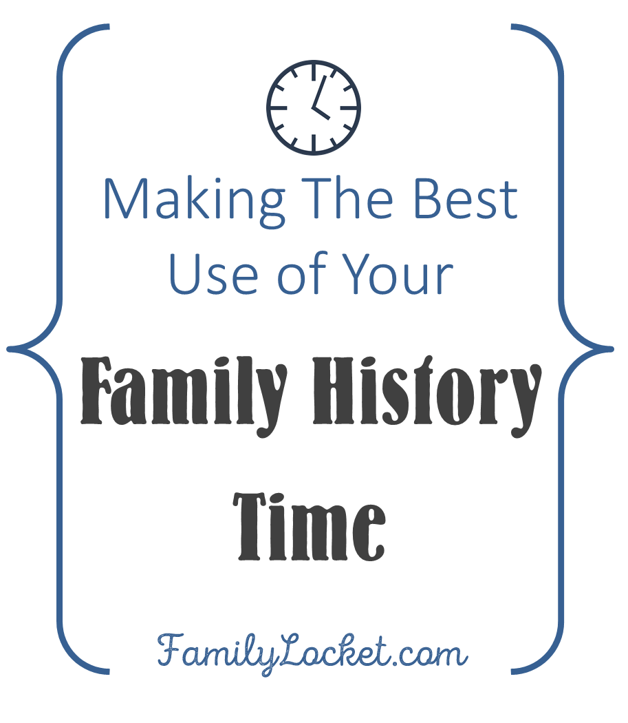 Productivity Counts: Making the Best Use of Your Family History Time