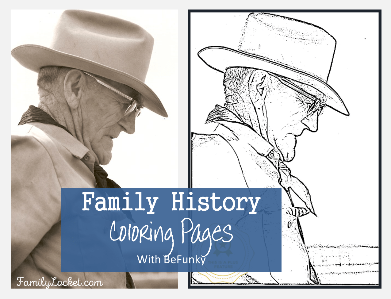 Creating Family Photo Coloring Pages with BeFunky